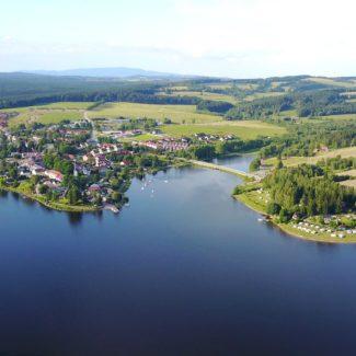 Camping Resort Frymburk - aerial photo
